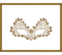 Face Lace Beuroque Gold
